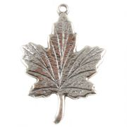 Maple Leaf Sterling Silver Charm